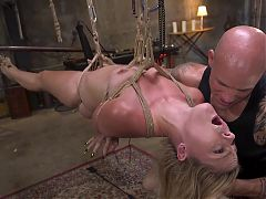Blonde Girl Next Door Lisey Sweet Brutal Anal Fuck and Rope