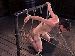 Grueling Punishment in Brutal Bondage Makes a Happy Slut