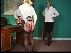 Severe caning of big bottomed Sarah Jane